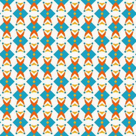 seventies: Pattern with abstract  ditsy flowers in teal colors. Seamless background. Retro wallpaper pattern.