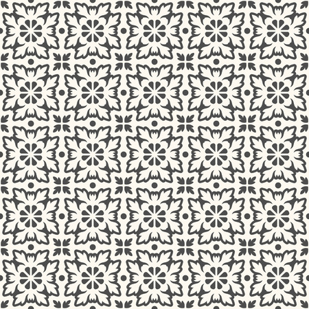 white tile: Floor tiles - seamless vintage pattern with cement tiles. Seamless vector background. Vector illustration.