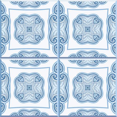 Vloertegels - naadloze vintage patroon met cement tegels. Naadloze vector achtergrond. Vector illustratie.