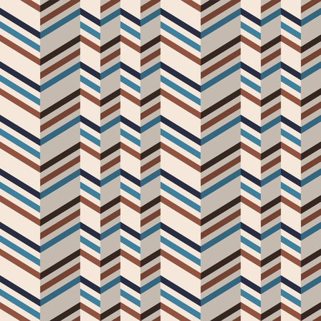 chevron pattern: Fashion zigzag pattern in brown and teal retro colors. Seamless chevron pattern. Vector background