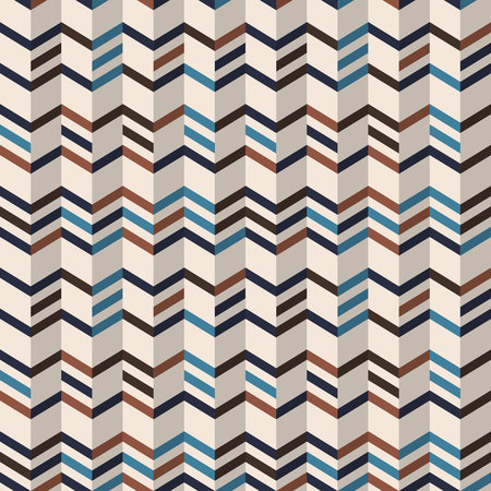 chevron pattern: Fashion zigzag pattern in brown retro colors. Seamless chevron pattern. Vector background