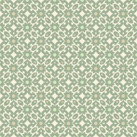 tiles floor: Floor tiles - seamless vintage pattern with cement tiles. Seamless vector background. Vector illustration.