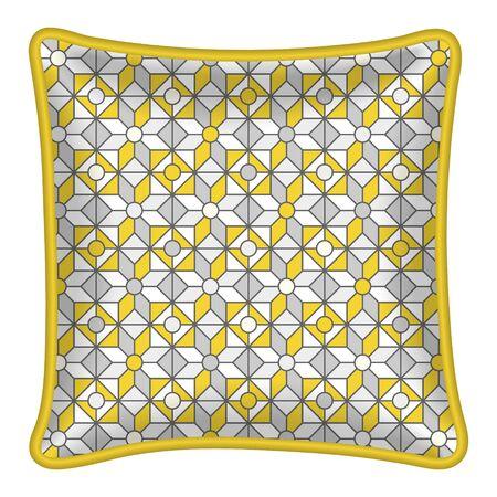 throw: Decorative throw pillow, patterned pillowcase.