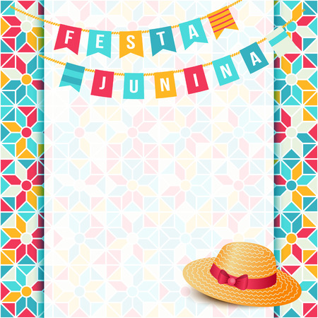 festa: Festa Junina illustration - traditional Brazil june festival party