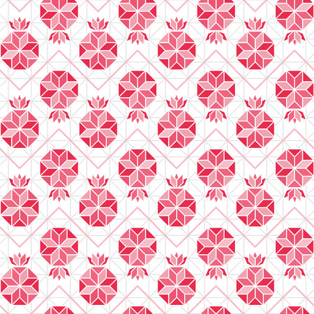 Abstract Symbol of Pomegranate, vector seamless pattern. Red pomegranate background. Abstract geometric pattern.