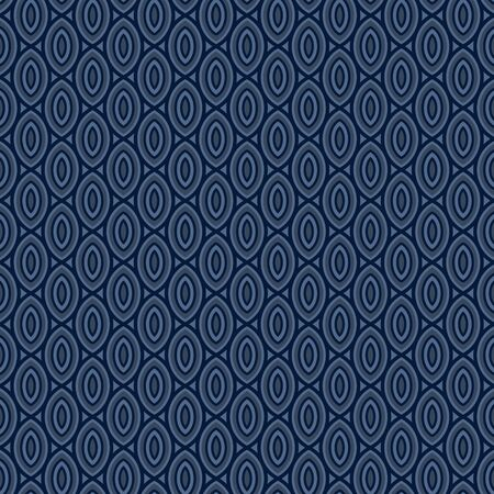 navy blue background: Beans pattern, abstract navy blue background. Vector seamless pattern. Bean repeating pattern. Illustration