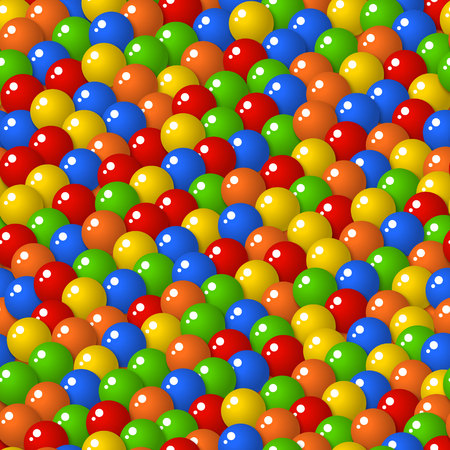 gumballs: Colorful pattern with a lot of gumballs, mixed colors. Seamless vector background. Bright game background with glossy balls.