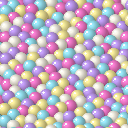 gumballs: Colorful pattern with a lot of gumballs, mixed pastel colors. Seamless vector background. Bright game background with glossy balls. Illustration