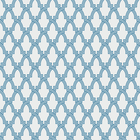 alhambra: Entwined modern pattern, based on traditional oriental arabic patterns. Seamless vector background. Easy to recolor. Arabesque geometric pattern. Traditional Islam pattern.