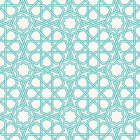 Entwined modern pattern, based on traditional oriental arabic patterns. Seamless vector background. Easy to recolor. Arabesque geometric pattern. Traditional Islam pattern.