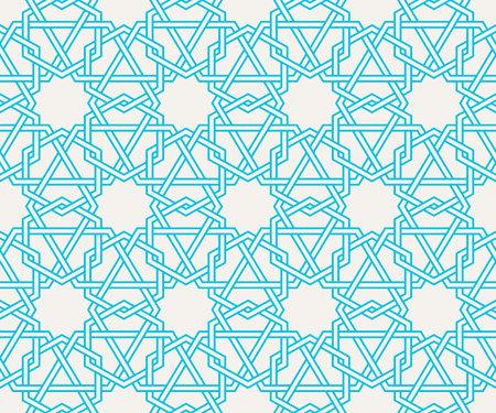 伝統的な東洋のアラビア語のパターンに基づいて、絡んだ現代のパターン。シームレスなベクトルの背景。色を変更する簡単です。幾何学的な唐草