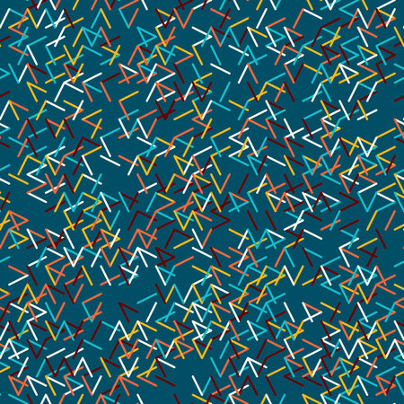tessellation structure: Abstract geometric background. Abstract technology pattern with colorful geometric shapes in tessellation. Linear abstract lattice, bright random colors. Illustration