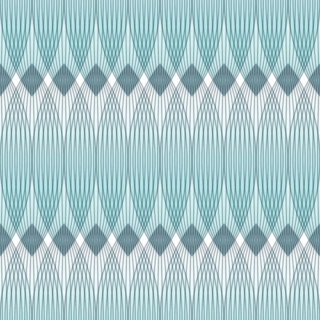 entwined: Abstract blue background, geometric shapes with many thin lines. Seamless vector pattern.