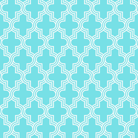 Traditional quatrefoil lattice pattern. Seamless vector background. 向量圖像