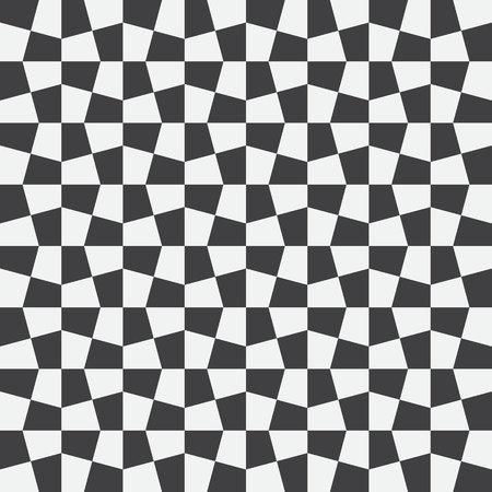 Assegni ineguali, sfondo a scacchi astratto. Illustrazione vettoriale Sfondo con motivo a scacchi bianco e nero senza soluzione di continuità. Modello vettoriale senza soluzione di continuità. Opz. Art. Archivio Fotografico - 74018708