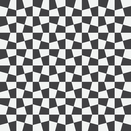 Unequal checks, abstract checkered background. Vector illustration. Background with black and white seamless checkered pattern. Seamless vector pattern. Opt Art.