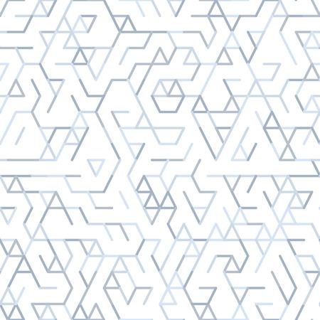 幾何学線をランダム パターン。テセレーション白地に灰色の幾何学的図形と技術背景を抽象化します。ランダム線形抽象格子のぬりえ。ベクターの  イラスト・ベクター素材
