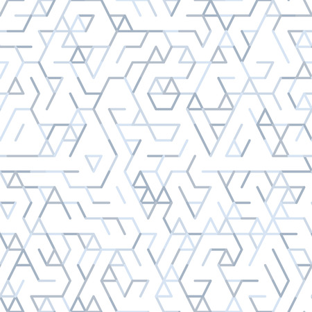 Geometric random lines pattern. Abstract technology background with grey geometric shapes in tessellation on white. Linear abstract lattice, random coloring. Vector seamless linear pattern. 版權商用圖片 - 80837332