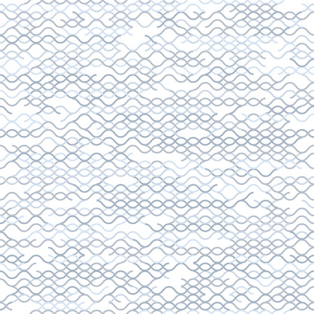 entwined: Geometric random lines pattern. Abstract technology background with grey geometric shapes in tessellation on white. Linear abstract lattice, random coloring. Vector seamless linear pattern.