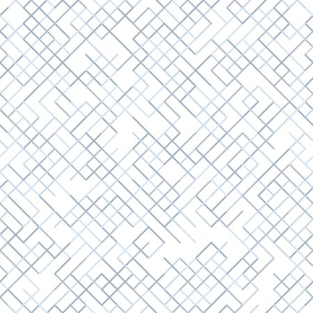 Geometric random lines pattern. Abstract technology background with grey geometric shapes in tessellation on white. Linear abstract lattice, random coloring. Vector seamless linear pattern.