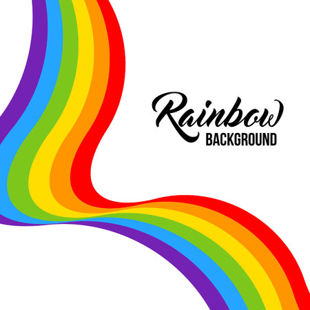 Rainbow background LGBT colors. Abstract geometric pattern. Vector illustration. Colorful wave, wavy LGBT flag.