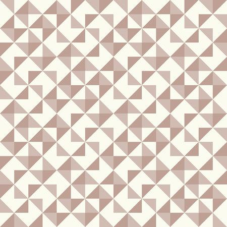 Patrón geométrico regular inspirado en el edredón nórdico patchwork tradicional. Solo 3 colores: fácil de volver a colorear. Fondo de vector inconsútil. Colores pastel retro
