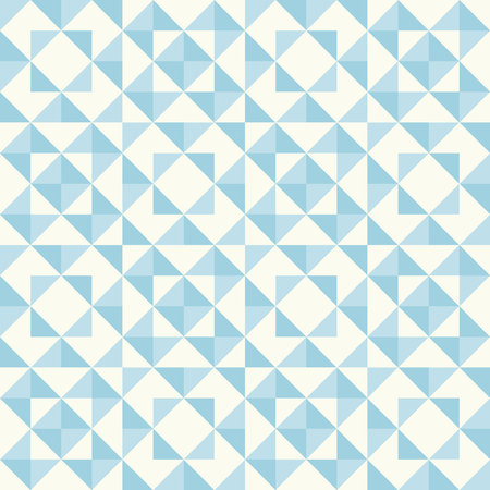 duvet: Regular geometric pattern inspired by traditional patchwork duvet quilting. Only 3 colors - easy to recolor. Seamless vector background. Pastel retro colors.