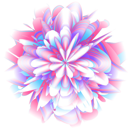 Abstract fururistic background with random layered texture. Fantastic flower vector illustration. Abstract burst vector.