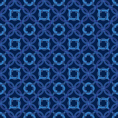 talavera: Portuguese tiles, Quatrefoil vector pattern. Tangled modern pattern, based on traditional oriental Arabic patterns.