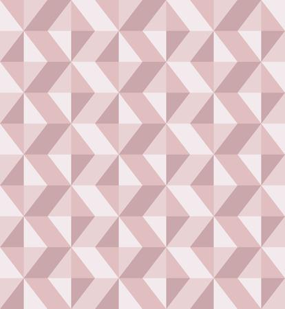 赤面ピンク色で抽象的なジオメリックの背景。ミレニアルピンクローズゴールド、クリスタルテクスチャ。シームレスなベクトルパターン。3D サー