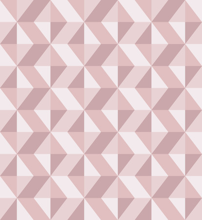 Abstract geomeric background in blush pink colors. Millennial pink rose gold, crystal texture. Seamless vector pattern. 3D surface background. Çizim