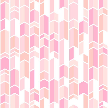 De abstracte geomeric achtergrond bloost roze kleuren. Duizendjarig roze rose goud. Naadloos vectorpatroon. Bloos roze chevronpatroon.