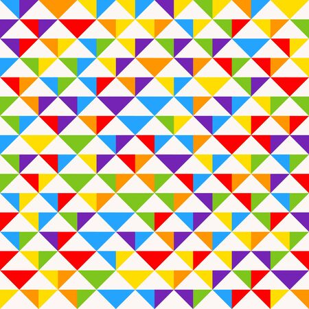 Rainbow mosaic tiles, abstract geometric background, seamless vector pattern. Illustration
