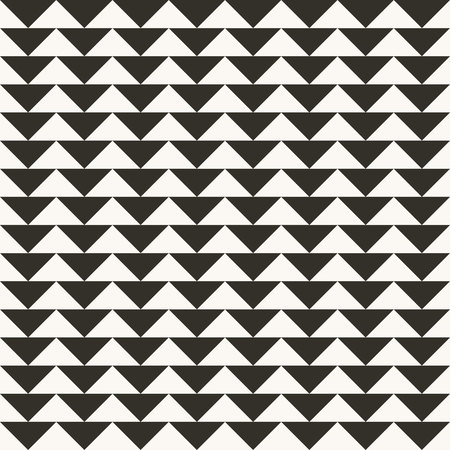 Black and white abstract geometric quilt pattern. High contrast geometric background with triangles. Simple colors - easy to recolor. Minimal background. Vector illustration. Vettoriali