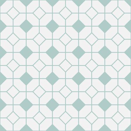 Simple floor tile pattern, abstract geometric seamless background. Portuguese ceramic tiles vector illustration. Illustration