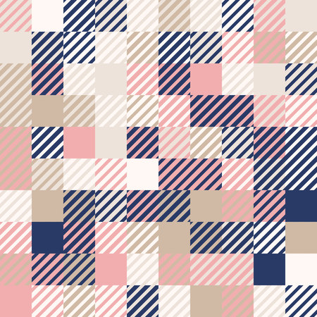 Abstract geometric background, random coloring. Seamless vector pattern. Colorful mosaic illustration. Perfect for wrapping paper, wallpaper, fabric design, web background or technology background.