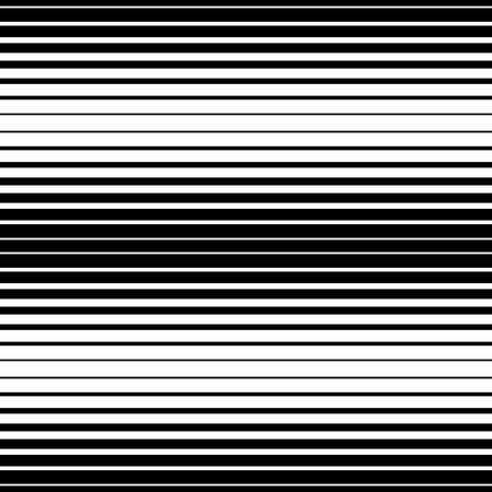Simple striped pattern, black and white colors, horizontal. Seamless vector background.