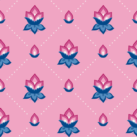 Jacobean floral illustration., meadow flowers background. Colorful herbs background. Seamless vector pattern. Jacobean embroidery floral, herbal collection, pink and blue flowers.