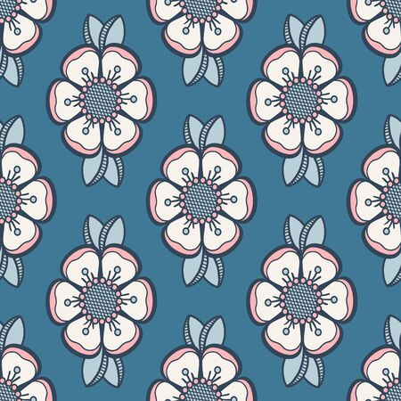 Retro dog-rose rose hip pattern, fashion floral design. Seamless floral pattern for fabric or wallpapers design. 版權商用圖片 - 131971827