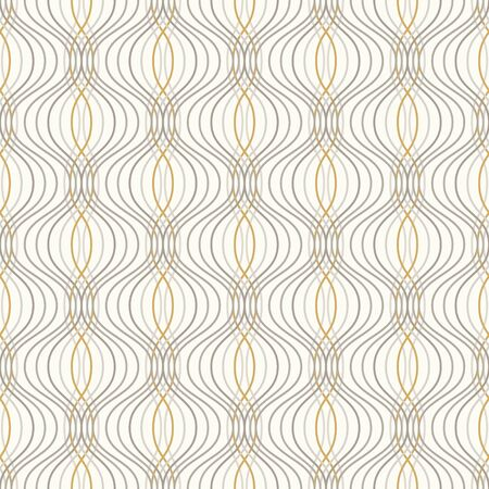 Ogee seamless vector curved pattern, abstract geometric background. Perfect for vintage wallpapers, fashion fabric print. Mid century modern wallpaper pattern.