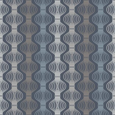 Ogee seamless vector curved pattern, abstract geometric background. Perfect for vintage wallpapers, fashion fabric print. Mid century modern wallpaper pattern. Vektoros illusztráció