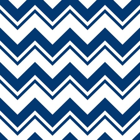 Simple chevron pattern, abstract geometric background vector. Classic navy blue and white colors. Easy to recolor.