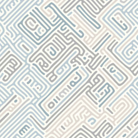 Abstract organic background, natural maze labyrinth, reaction diffusion pattern. Seamless vector pattern. Abstract natural background. Organic texture  イラスト・ベクター素材