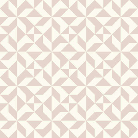Abstract geometric pattern inspired by duvet quilting. Pastel colored abstract background. Simple colors - easy to recolor. Seamless vector pattern.