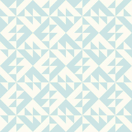 Abstract geometric pattern inspired by duvet quilting. Pastel colored abstract background. Simple colors - easy to recolor. Seamless vector pattern. Vettoriali