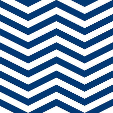 Simple chevron pattern, abstract geometric background vector. Classic navy blue and white colors. Easy to recolor. 矢量图像