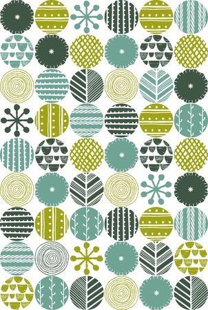 Scandinavian style natural pattern