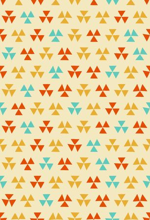 Scandinavian style seamless pattern (orange)