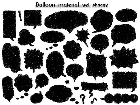 speech balloon material set(shaggy)