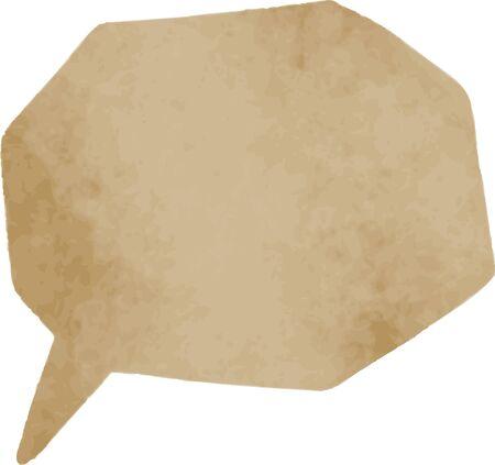 speech balloon material@kraft paper Illusztráció